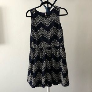 Cute blue and white knitted dress